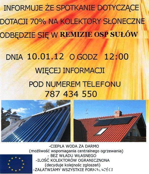 Kolektory Słoneczne w Sąsiadce