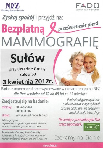 Zbadaj piersi w gminie sułów