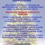 Świąteczny Kiermasz Twórczości Lokalnej w Radecznicy