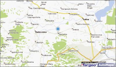 mapa Sąsiadka, Sąsiadka na mapie Targeo