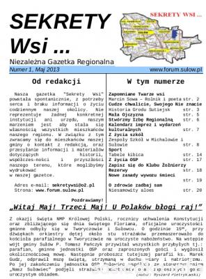 Sekrety Wsi… niezależna gazetka regionalna