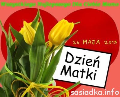 Życzenia na Święto Matki 26 maja