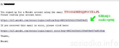 potwierdzenie na email