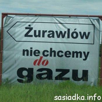 Protest mieszkańców Żurawlowa a wieś Sąsiadka