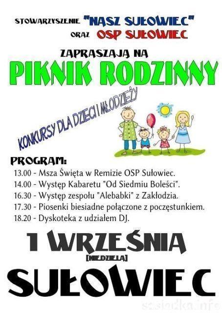 Piknik rodzinny w Sułowcu
