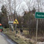Pierwsza bariera drogowa w Sąsiadce
