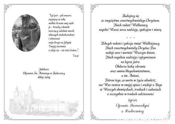 kartka św. Antoniego
