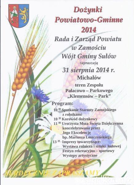 Dożynki Powiatowo-gminne w Michalowie