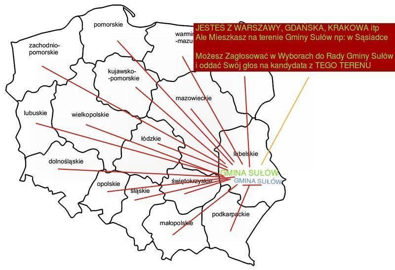 Jesteś z Warszawy możesz głosować w gm. Sułów