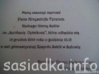 Szkolny opłatek w Sułowie