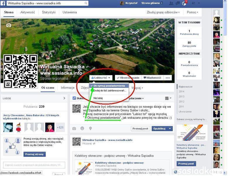 Otrzymuj aktualności na facebooka