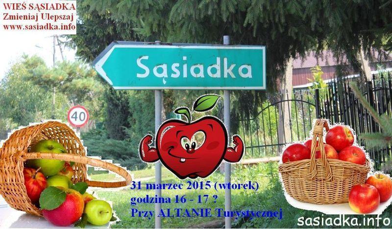 Darmowe jabłka dla mieszkańców Sąsiadki