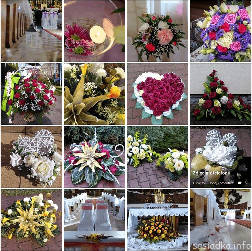 Florystyczne produkty wykonane przez M. Łysy z Sąsiadki