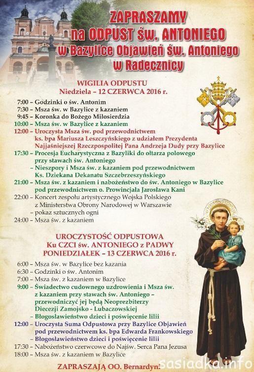 Odpust św. Antoniego w Radecznicy