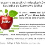 Darmowe jabłka przy altanie sutiejsk