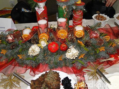 Stroik i potrawa świąteczna w konkursie