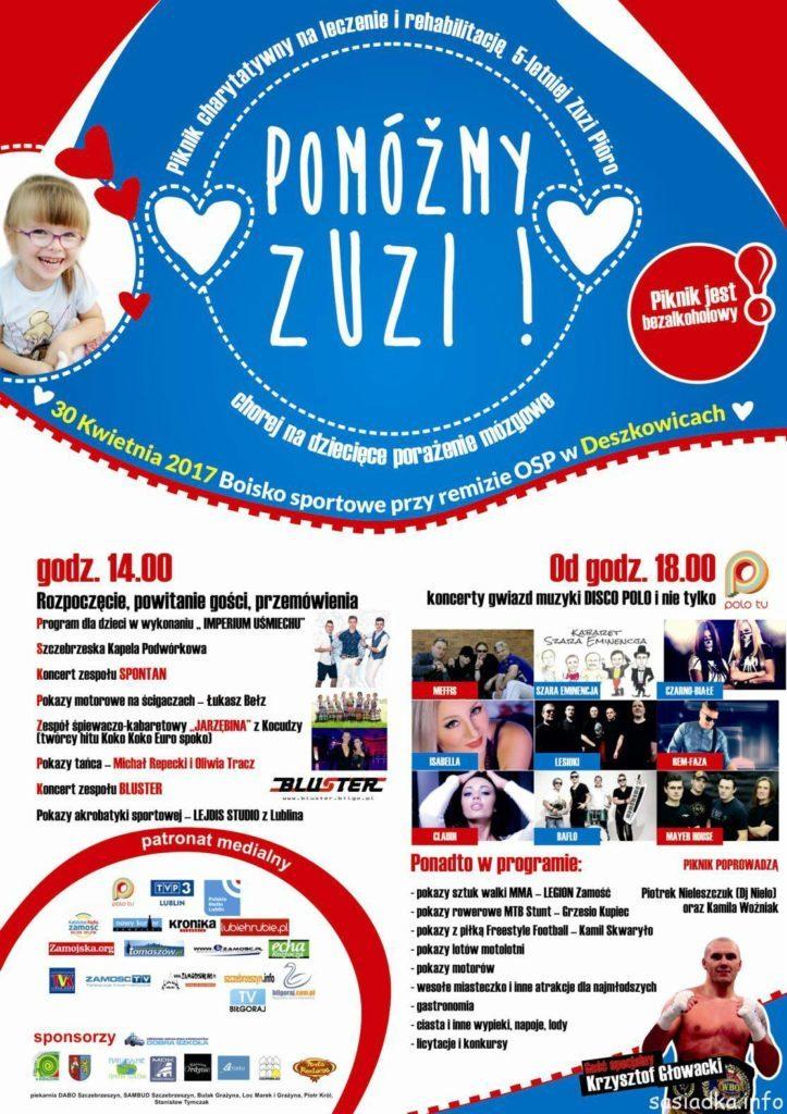 Piknik charytatywny dla Zuzi w Deszkowicach Pierwszych
