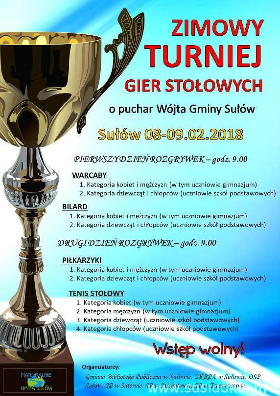 Zimowy turniej o puchar wójta gminy Sułów