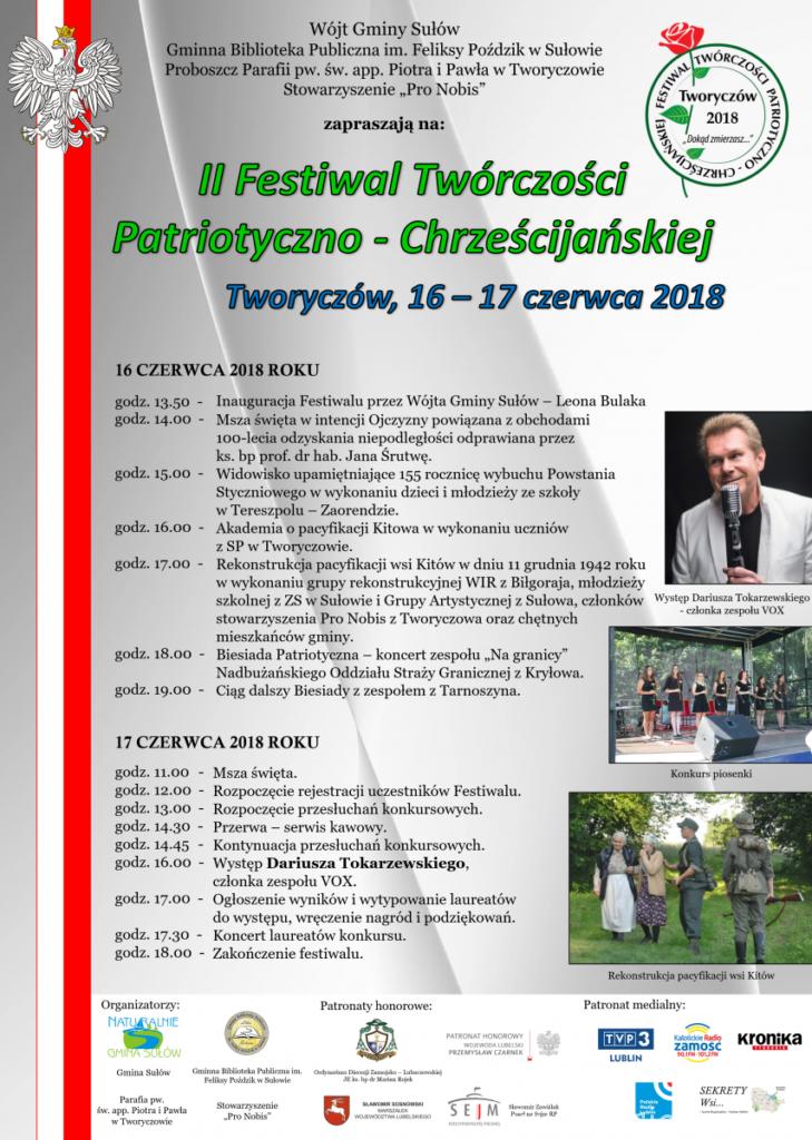 Rekonstrukcja wysiedlenia wsi Kitów i Festiwal Twórczości Patriotyczno-Chrześcijańskiej w Tworyczowie